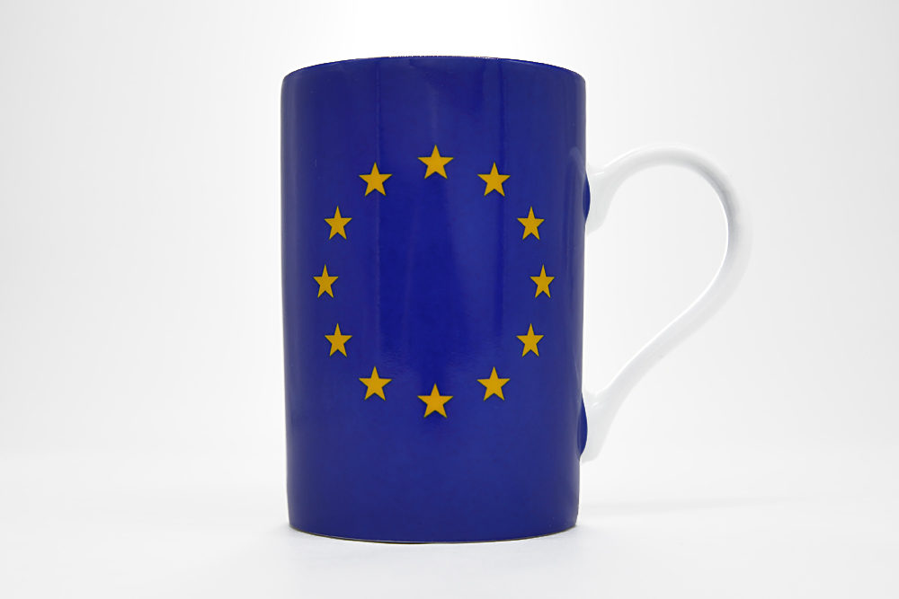 Porcelain Mug Eu Flag Eu Parliament Shop